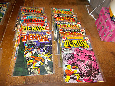 The Demon Vol. 1 Complete run Nos. 1-10 - Jack Kirby 1972 to 1973 DC Comics