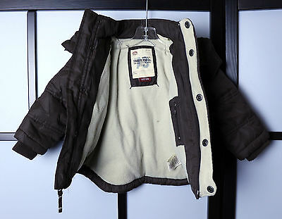 TIMBERLAND Baby Winter Snow Jacket Zipper Detachable Hood 12M Premium