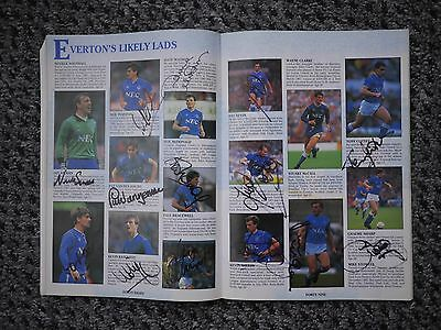 Everton team signed FA Cup Final v Liverpool 20/5/89 - OFFERS !!