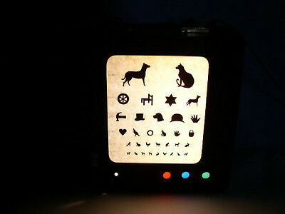 Childrens Optical Graphic Vision Eye Green Test Chart Light Medical Science 1940