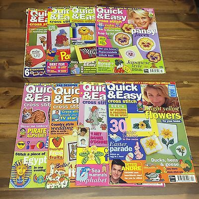 Bundle Of 8 Quick & Easy Cross Stitch Magazines