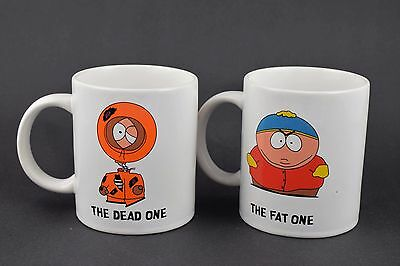 South Park Kenny The Dead One & Cartman The Fat One Mugs (Original 1998)