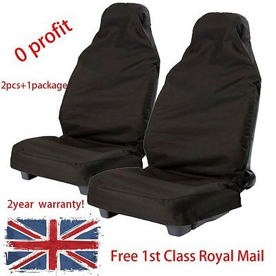2x Universal Waterproof Pair Front Seat Cover Protector Car Van Nylon Heavy Duty