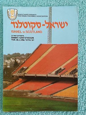 1986 - ISRAEL v SCOTLAND PROGRAMME - INTERNATIONAL FRIENDLY