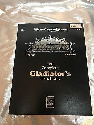 Advanced Dungeons & Dragons 2nd Edition Dark Sun Complete Gladiator's Handbook