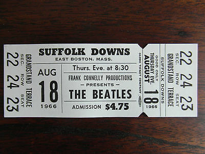 Ticket Concert Beatles Collection  18.08.1966  Boston