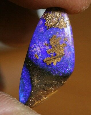10.64ct Boulder Opal Lightning Ridge Cabochon - Vibrant Neon - See Video