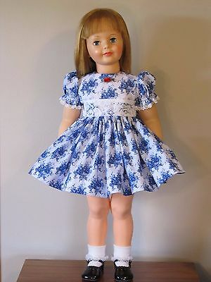 "Pretty Daisy Kingdom Floral Dress For 35"" Patti Playpal Doll Clothes"