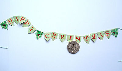 1/12th  Dolls House Miniature Christmas Bunting