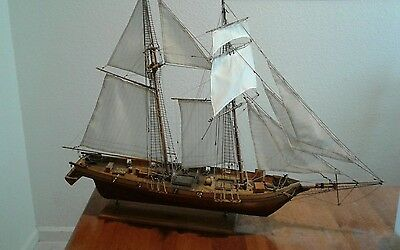 "Harvey Baltimore Clipper Tall Ship 35"" Built Wooden Model local pick up only."