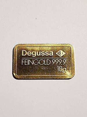 Degussa Gold Bar 10 Gram, 999.9 Purity 24Ct Un - Sealed