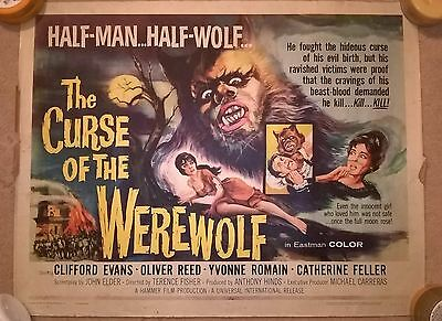 THE CURSE OF THE WEREWOLF (1961 film) HAMMER -US HALF SHEET  ORIGINAL  POSTER