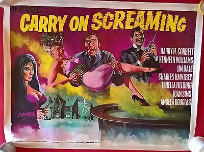 Carry On Screaming 1966 Uk Quad Poster  30 X 40 Inches .linen   Backed