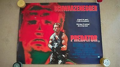 PREDATOR UK  QUAD  CINEMA -ROLLED -1987 ORIGINAL  movie poster.30x40-WITH BONUS