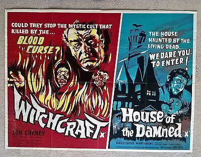 Witchcraft/ House Of The Damned - Original Very Rare Uk Quad Poster - 30 X 40