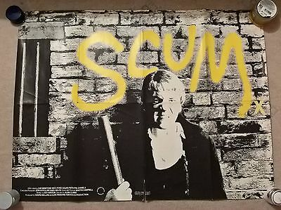 Scum - Original Uk  Quad  Cinema Poster.30 X 39.5  Inches .