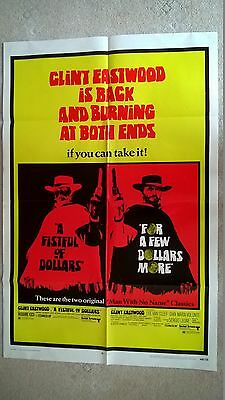 A Fistful Of Dollars/for A Few Dollars More-Us 1 Sheet Double Bill1969 . 27 X 41