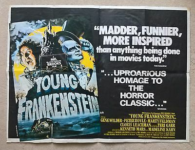 Young Frankenstein  - Original Very Rare Uk Quad Poster   Poster -