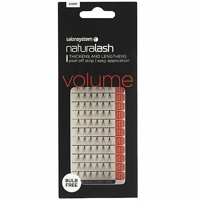 Salon System Naturalash Individual Lash Peel-Off Strip Black Short False Lashes