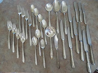 Vintage 30 piece Towle Sterling SILVER FLUTES Pattern NO Monogram