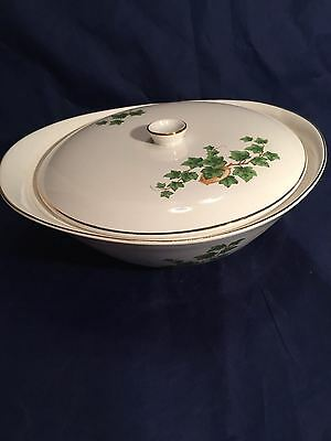 VINTAGE mid century PADEN CITY POTTERY EDEN ROC IVY CHINA COVERED SERVING BOWL
