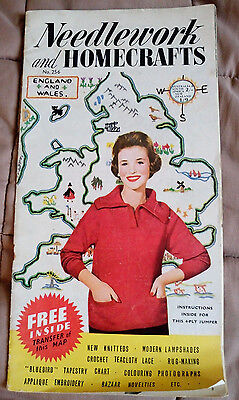 Needlework & Homecrafts # 256 vintage craft book knitting crochet lace tapestry