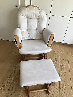 Glider/rocking chair & foot stool nursery furniture From John Lewis Was £200 New