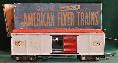 Vintage Gilbert Tru-Model American Flyer Trains 478 Freight Car