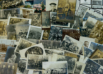Fantastic Lot Wwi Germany Military 102 Real Photo Death Patriotic Cards & Photos