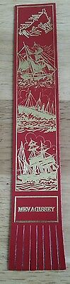 BOOKMARK Leather - Mevagissey St. Austel Red and Gold