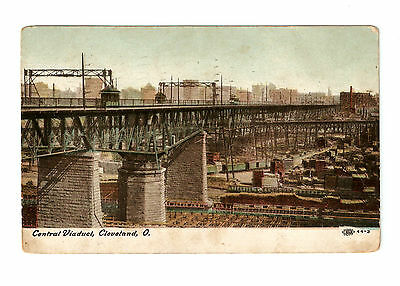 Usa Postcard Central Viaduct Cleveland Ohio 1915
