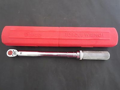 "SNAP ON TOOLS 3/8"" DRIVE CLICK TYPE TORQUE WRENCH -- QJR2100D - 15 to 100 lbs"