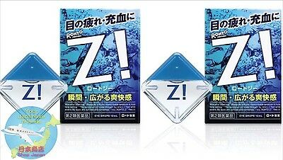 Good value ROHTO Z! b JAPANese 2 Best Super Cool Refreshing Eye Wash Drops F/S