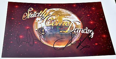 """Louise Redknapp & Danny Mac Signed 12"""" x 8"""" Photo Strictly Come Dancing 2016"""