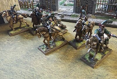 WARHAMMER EMPIRE IMPERIAL PISTOLIERS CAVALRY METAL AND PLASTIC x6