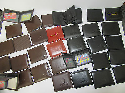 NEW TRADE JOB LOT WHOLESALE 48 X MENS WALLETS BROWN BLACK MIXED Free Delivery