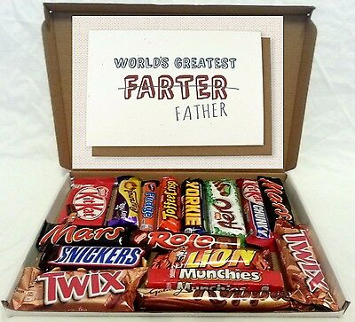 Large  Funny Fathers Day Chocolate Gift Box Hamper Dad Daddy Birthday