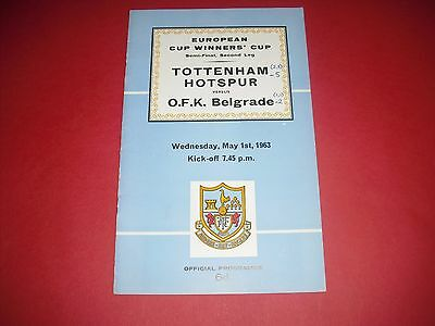 1963 European Cwc Semi Final Tottenham V Belgrade