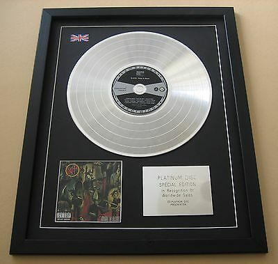 SLAYER Reign In Blood CD / PLATINUM LP DISC Presentation