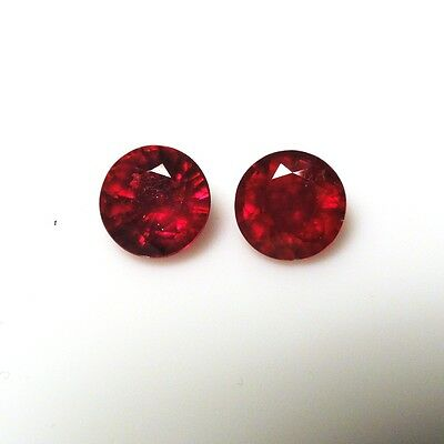 Natural Madagascar Ruby Round 7x7mm Faceted Approximately 3.50 Carat (3043)
