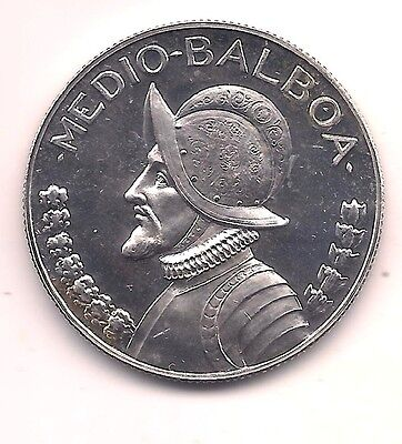 1971 Panama Silver Proof 1/2 Balboa--ONLY 11,000 MINTED !!