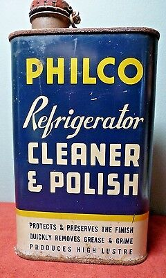 "Vintage PHILCO ""REFRIGERATOR CLEANER and POLISH"" 16 oz.Tin Can ~ Unopened ~ RARE"