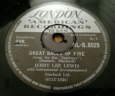 JERRY LEE LEWIS Great Balls Of Fire 78 RPM London HL-S.8529 UK 1957