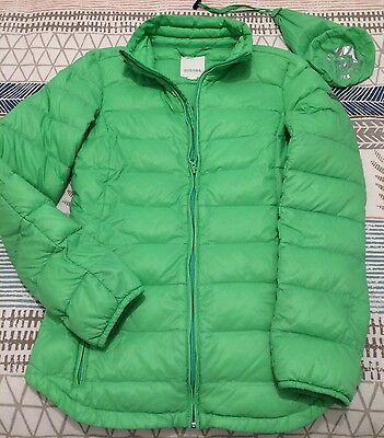 Diesel Girls Real Down Puffa Jacket & Pouch XXL 11-12yr Kids Compact Coat In Bag
