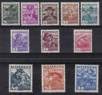 NEW  STAMPS   AUSTRIA  1935 COSTUMS  part set 4g to 60g  (MINT/MLH)  lot 672