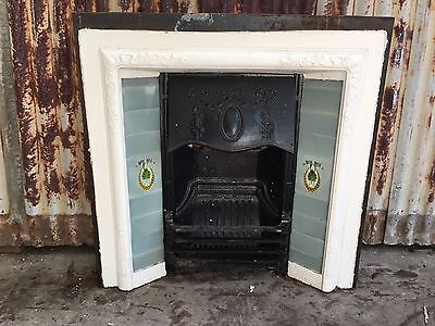 Cast Iron Fireplace With Tile Decorations 960w X 955h