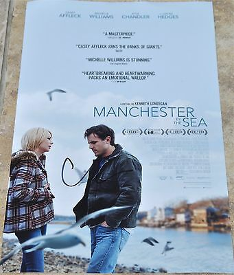 "Casey Affleck Signed 12"" x 8"" Colour Photo Manchester By The Sea"