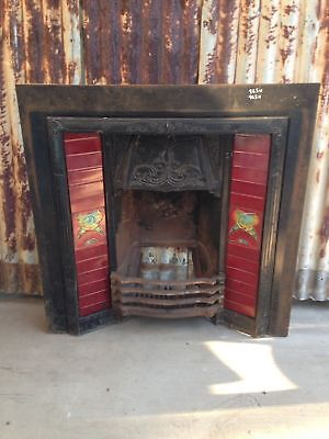 Cast Iron Fireplace With Beautiful Tile Decorations 965w X 965h