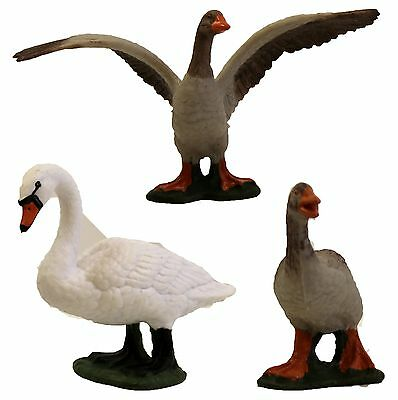 Migration Set of 2 Geese & 1 Swan Animal Figures