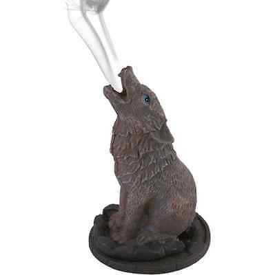 Howling Wolf Incense Cone Burner By Lisa Parker Wicca Pagan Spiritual